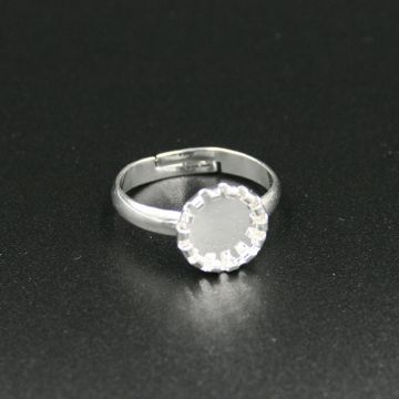 15mm Silver plated ring base